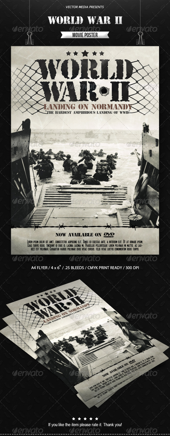GraphicRiver World War II Movie Poster 6893915