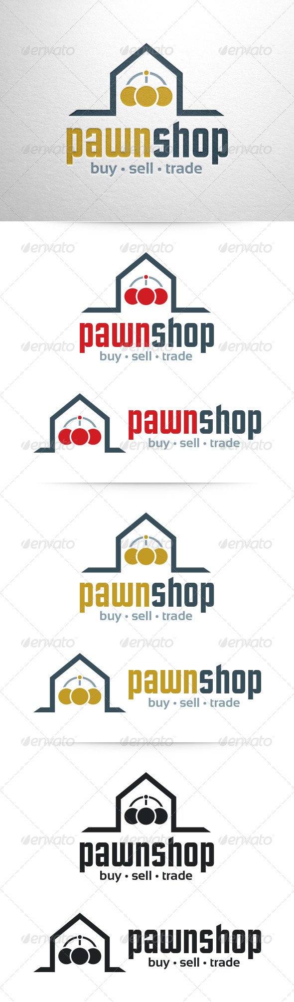 GraphicRiver Pawn Shop Logo Template 6894112