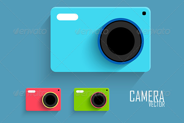 GraphicRiver Flat Camera 6894323
