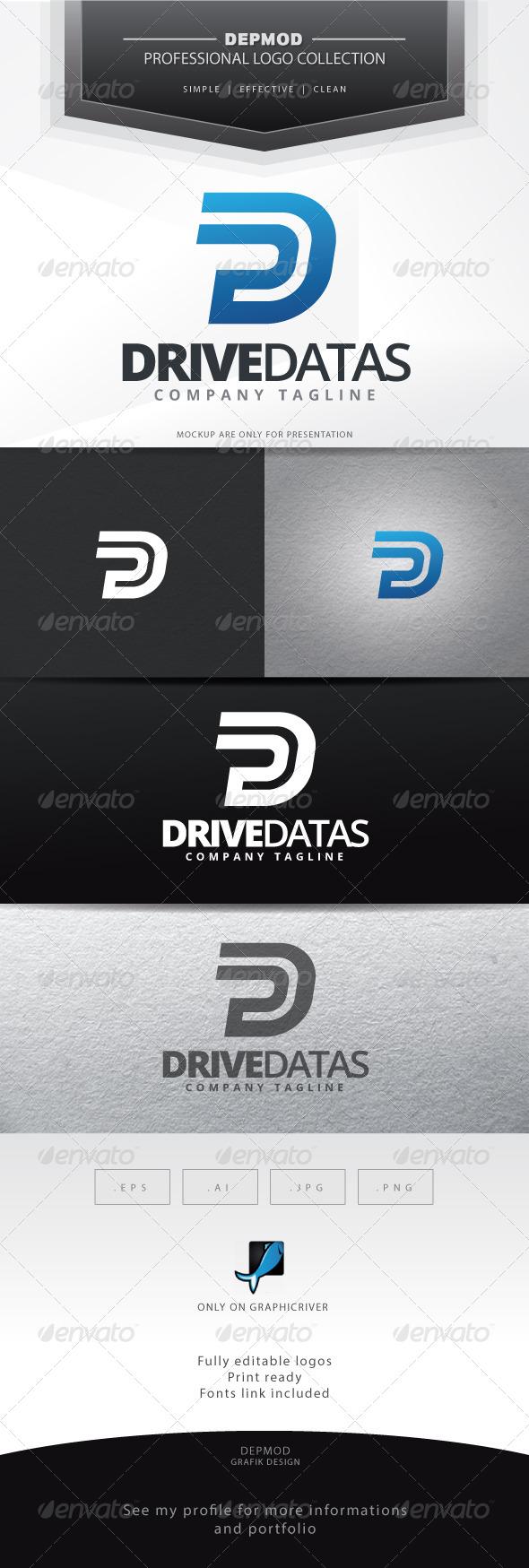 GraphicRiver Drive Datas Logo 6894385