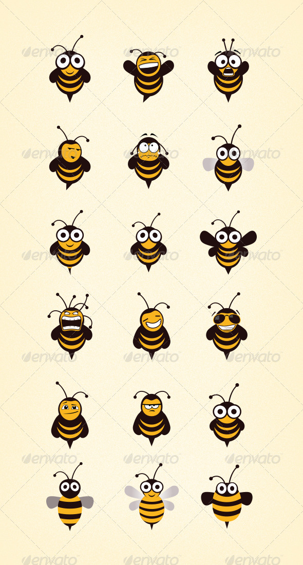 GraphicRiver Bee Icon Set 6894445