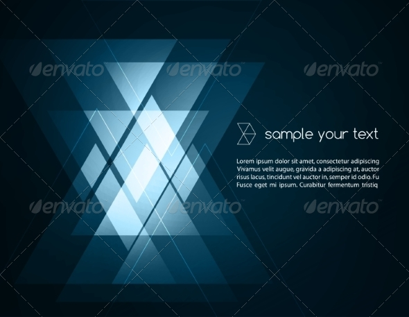 GraphicRiver Elegant Geometric Blue Background 6894491