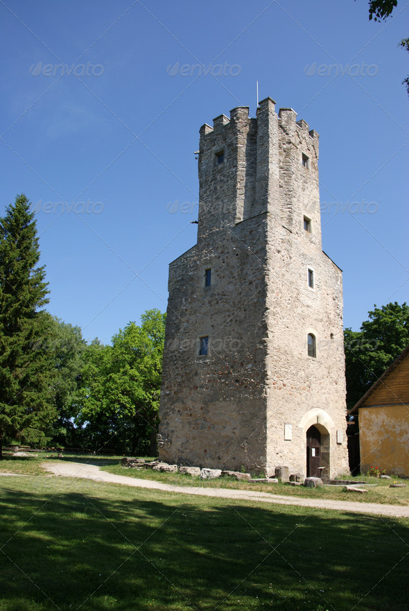 Castle Tower - Stock Photo - Images