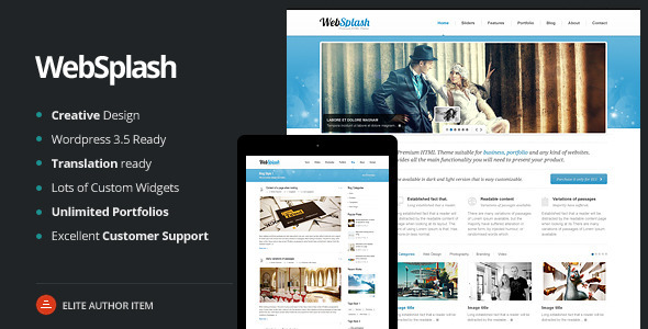 Web Splash - Premium WordPress Theme - Business Corporate