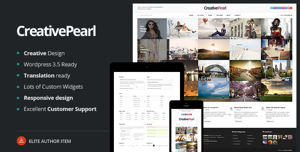 CreativePearl - Photography Responsive WP Theme - Photography Creative
