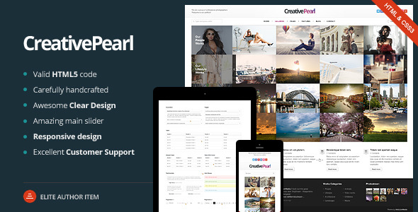 CreativePearl - Photography Responsive Template
