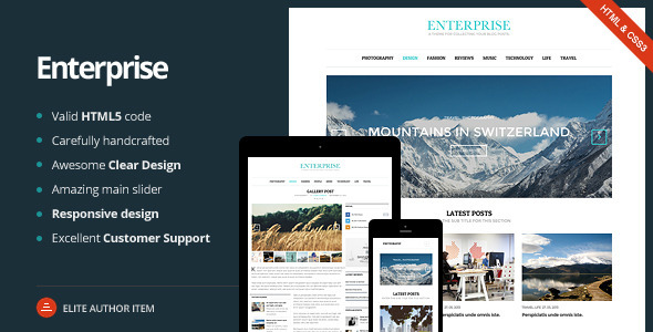 Enterprise - Responsive Magazine, News, Blog - Corporate Site Templates