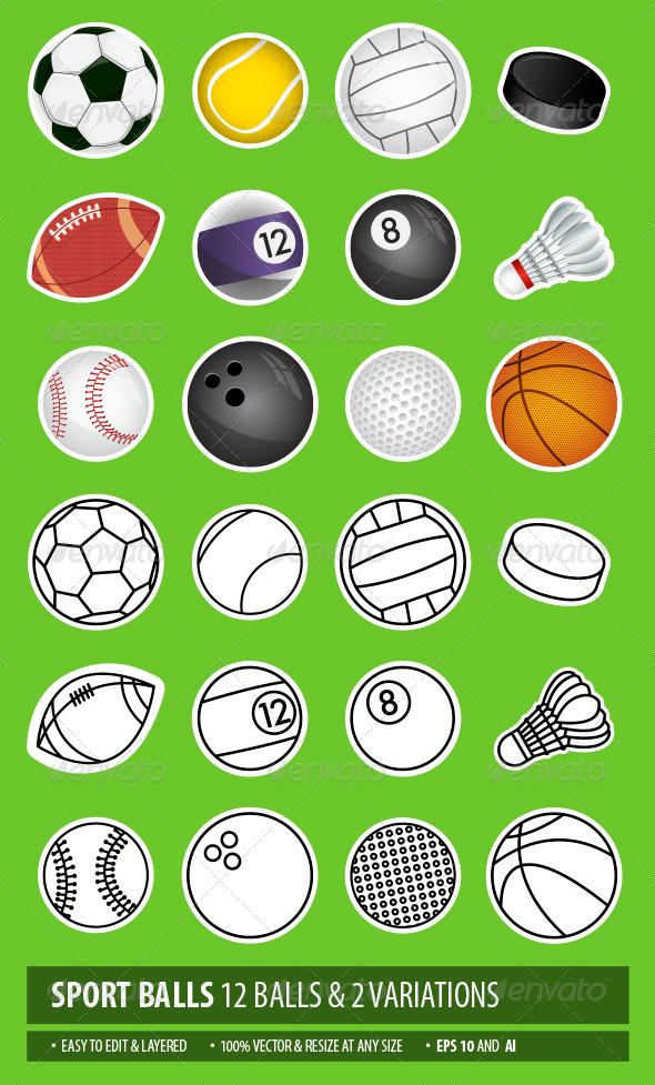 GraphicRiver Sport Balls 6882176