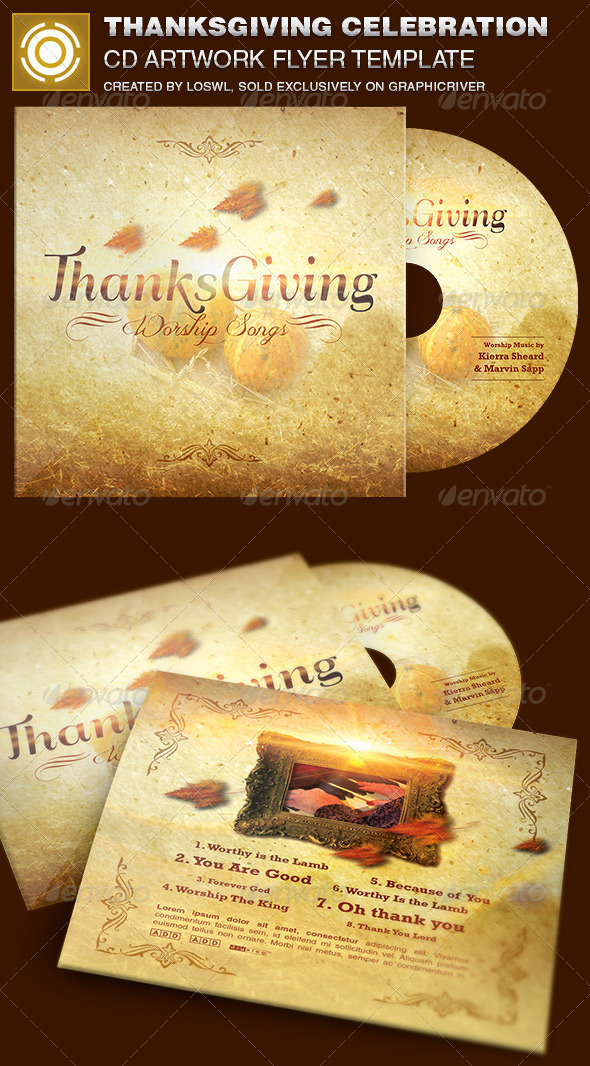 GraphicRiver Thanksgiving Celebration CD Artwork Template 6896148