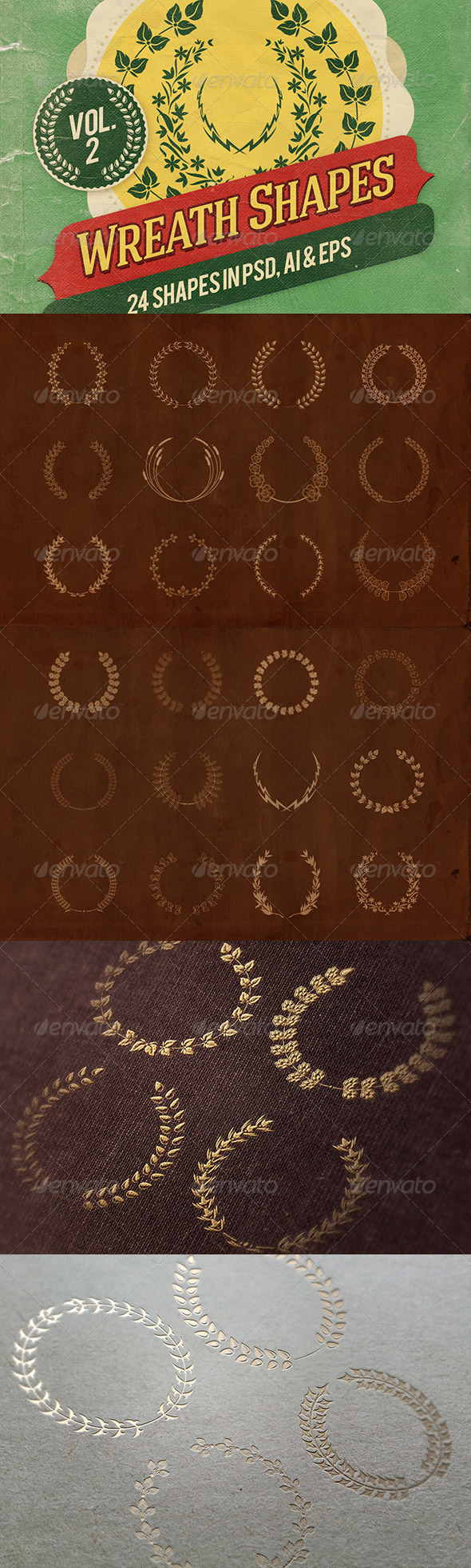 GraphicRiver Wreath Shapes Vol.2 6896534