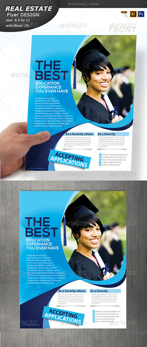 GraphicRiver Education Flyer Design 6896907