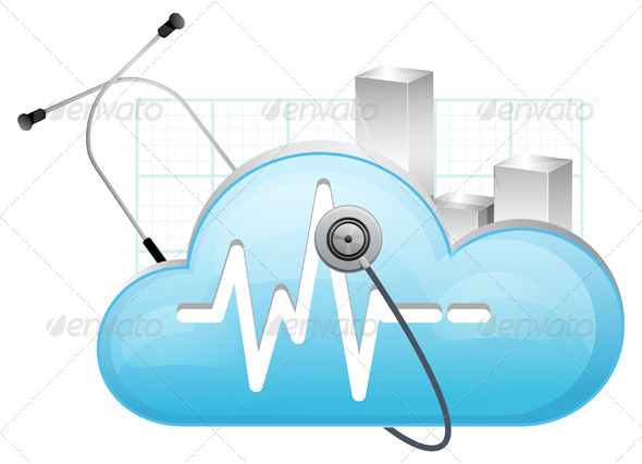 GraphicRiver Cloud Technology Performance Monitor 6897065