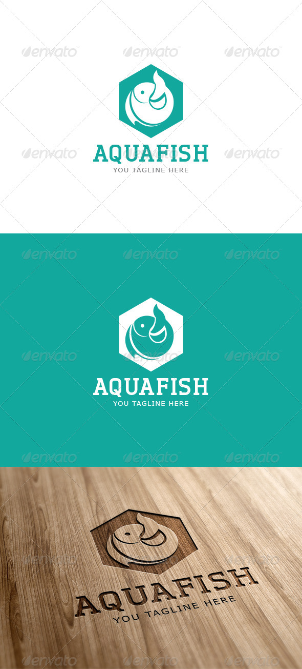 GraphicRiver Aqua Fish Logo Template 6897092