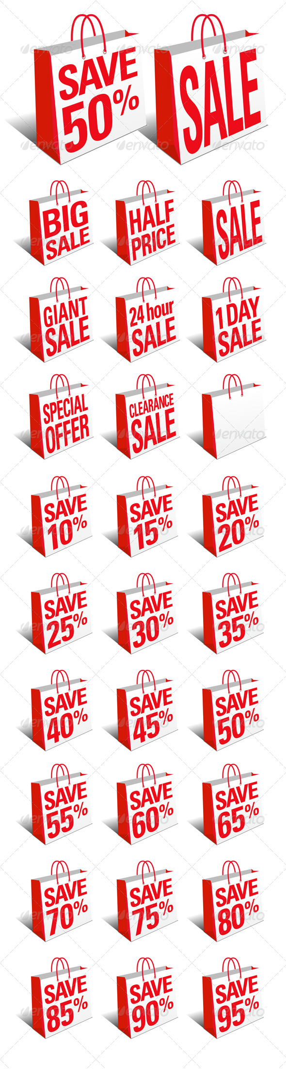 GraphicRiver Sale and Save Shopping Bags 6897095
