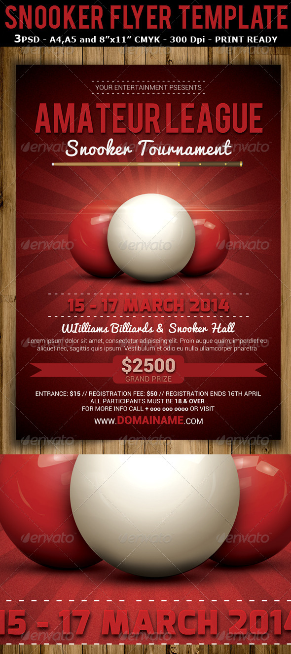GraphicRiver Snooker Tournament Flyer Template V2 6897184