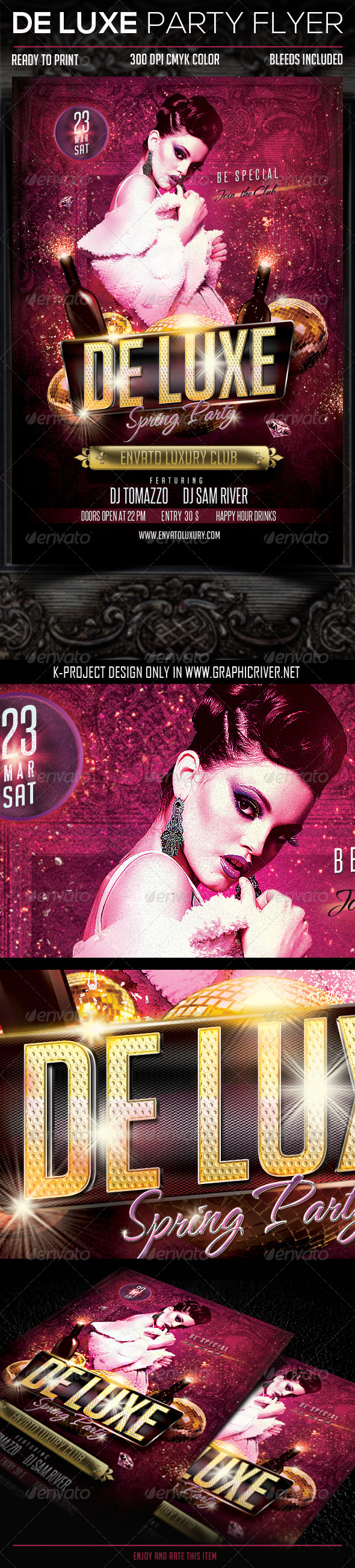GraphicRiver De Luxe Party Flyer 6897625
