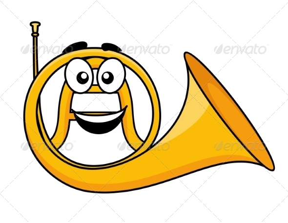 GraphicRiver Cartoon French Horn 6898629