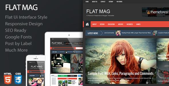 ThemeForest Flat Mag Responsive Blogger Template 6898694