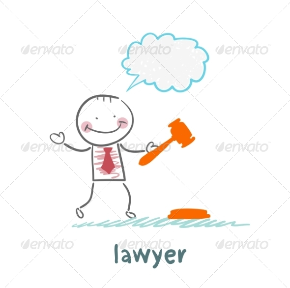 GraphicRiver Lawyer Knocking Hammer and Thinks 6899289