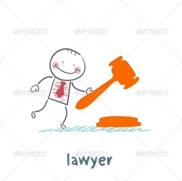 GraphicRiver Lawyer Knocking Hammer 6899299