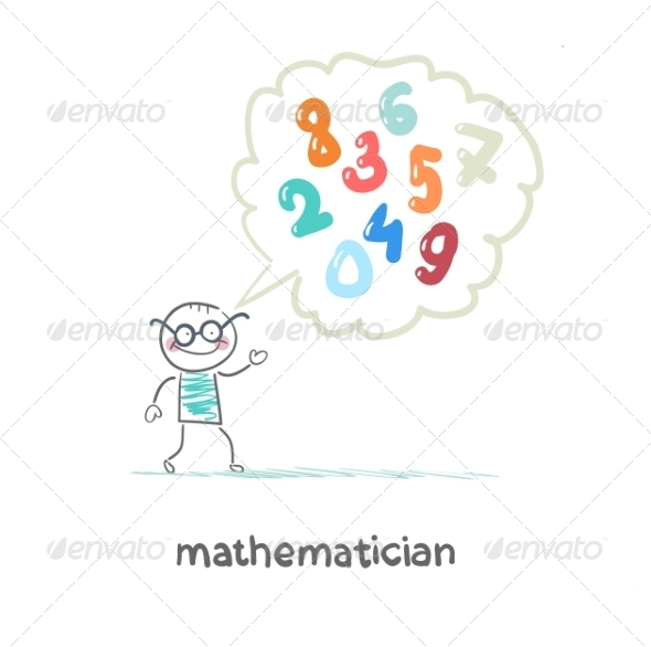 GraphicRiver Mathematician Thinks About Numbers 6899402