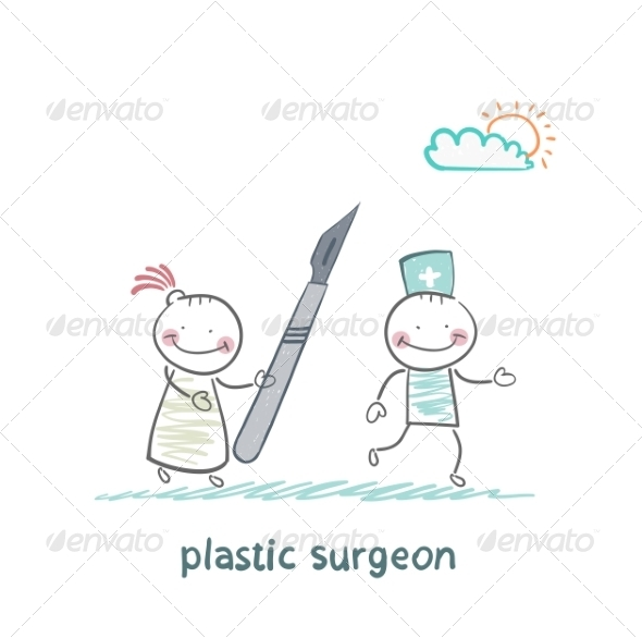 GraphicRiver Plastic Surgeon Escapes from the Patient 6899769