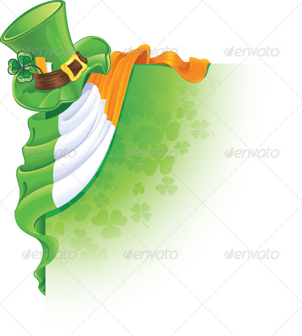 GraphicRiver Saint Patrick s Day Corner Element 6887283