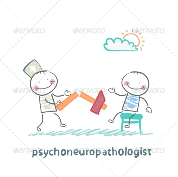 GraphicRiver Psychoneuropathologist with a Broken Hammer 6900307