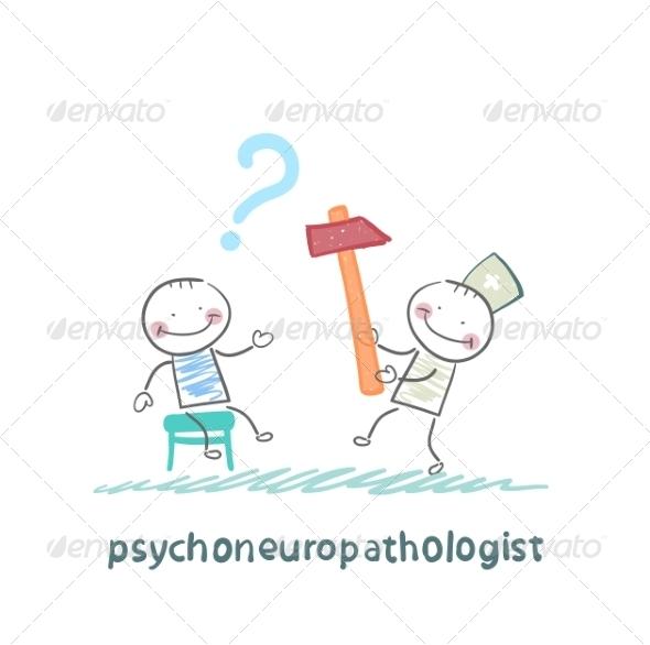 GraphicRiver Psychoneuropathologist Check the Patient s Nerves 6900317