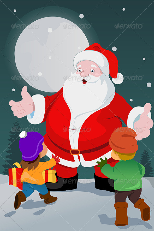 GraphicRiver Kids and Santa 6901036