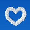 Clouds in shape of heart on a blue background - PhotoDune Item for Sale