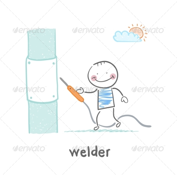 GraphicRiver Welder Near Pipes with Welding Machine 6901950