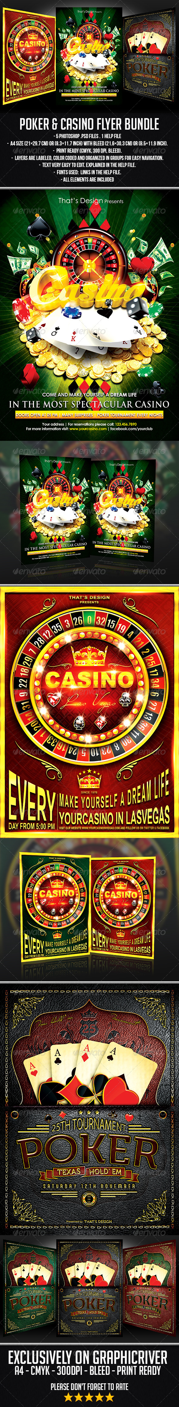 GraphicRiver Poker and Casino Flyer Bundle 6901957