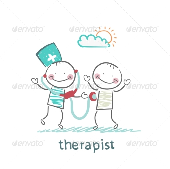 GraphicRiver Therapist Listens to a Stethoscope Patient 6902070