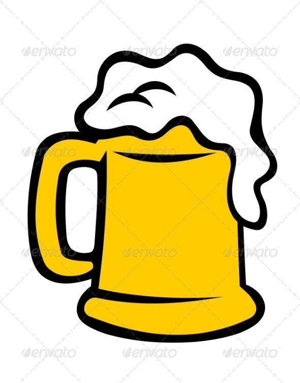 GraphicRiver Tankard Overflowing with Frothy Beer 6902472
