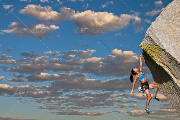 Stock Photo - PhotoDune female rock climber 721706