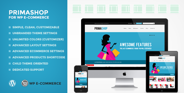 PrimaShop For WP Ecommerce (WPEC) WordPress Theme - WP e-Commerce eCommerce