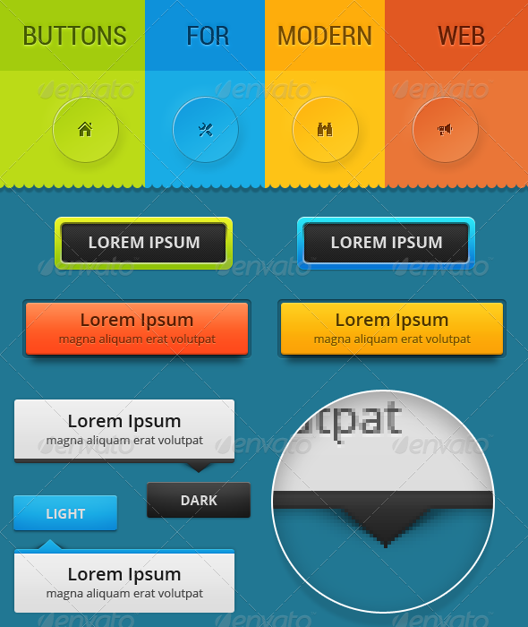 GraphicRiver Buttons For Modern Web 6893664
