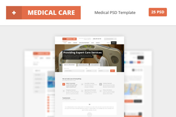 ThemeForest Medical Care Medical PSD Template 6903897