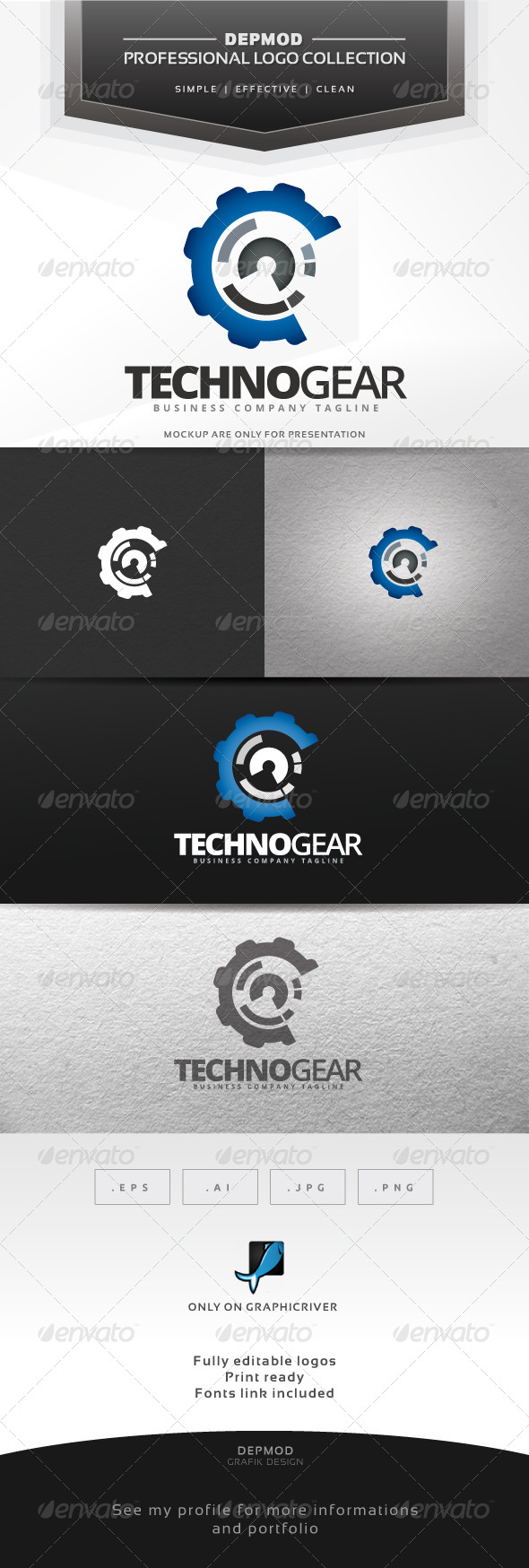GraphicRiver Techno Gear Logo 6905190