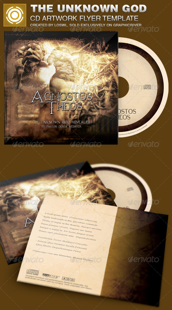 GraphicRiver The Unknown God CD Artwork Template 6905617