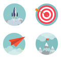 Flat design set icons Start up Business development success result strategy concept  - PhotoDune Item for Sale