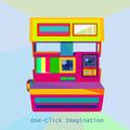Photo Camera Retro geometric art style trendy colors art technology concept - PhotoDune Item for Sale