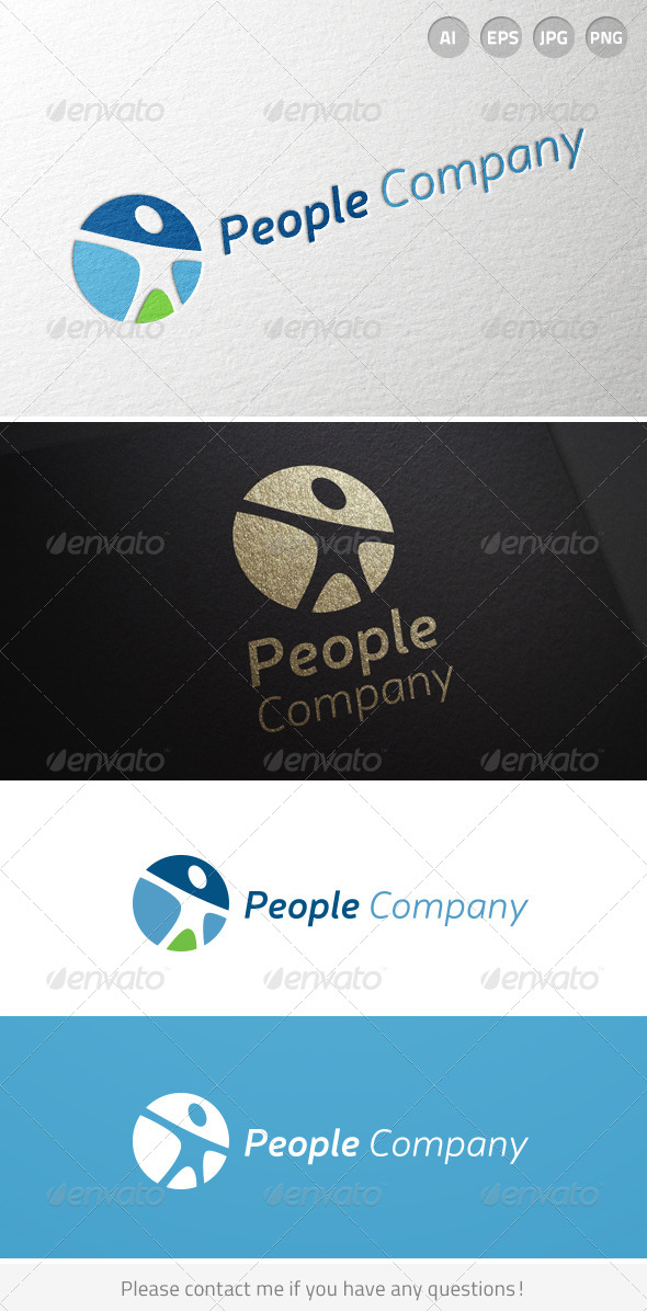 GraphicRiver People Human Resources Person logo 6906093