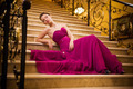woman in a long dress lying on the stairs - PhotoDune Item for Sale
