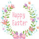 Happy Easter Floral Wreath Set - GraphicRiver Item for Sale