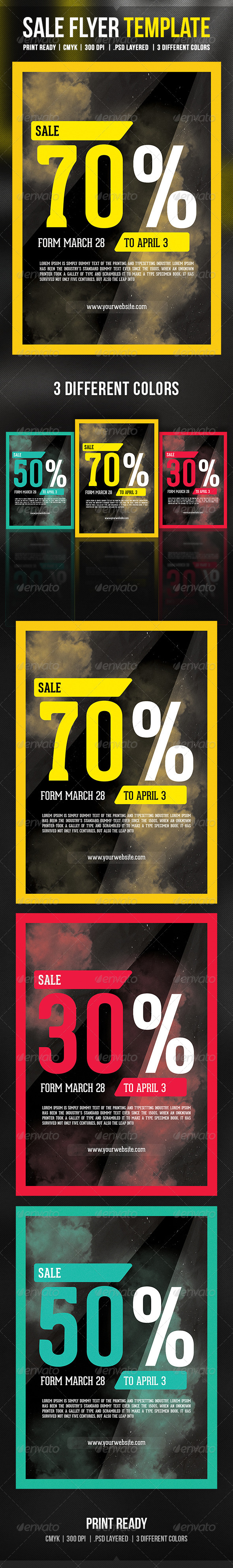 GraphicRiver Sale Flyer Template 6906898