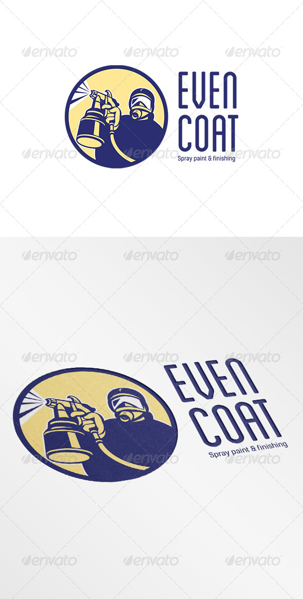 GraphicRiver Even Coat Spray Paint Logo 6907154