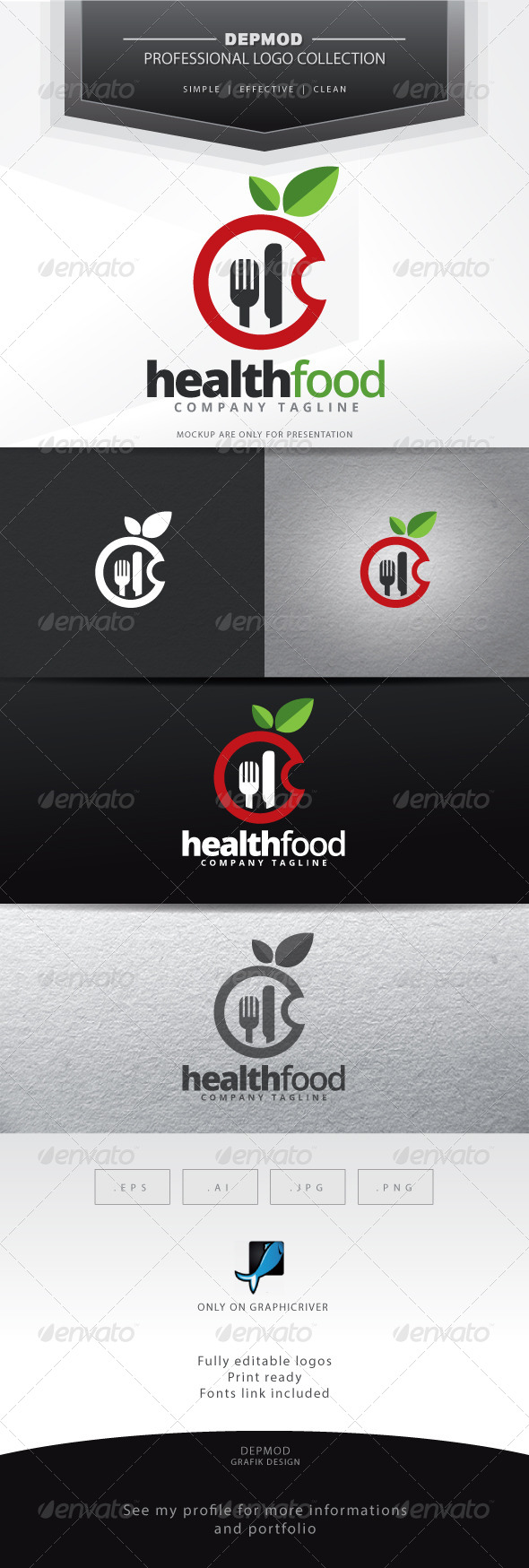 GraphicRiver Health Food Logo 6907176