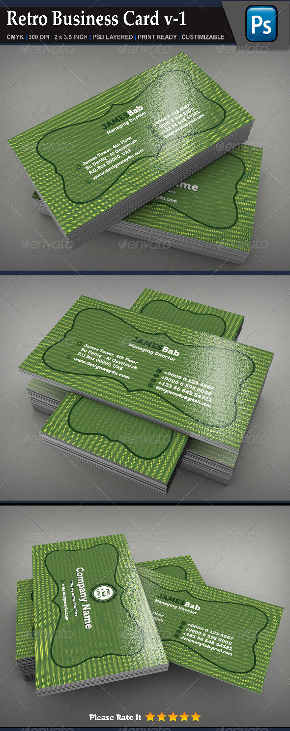 GraphicRiver Retro Business Card v-1 6898804